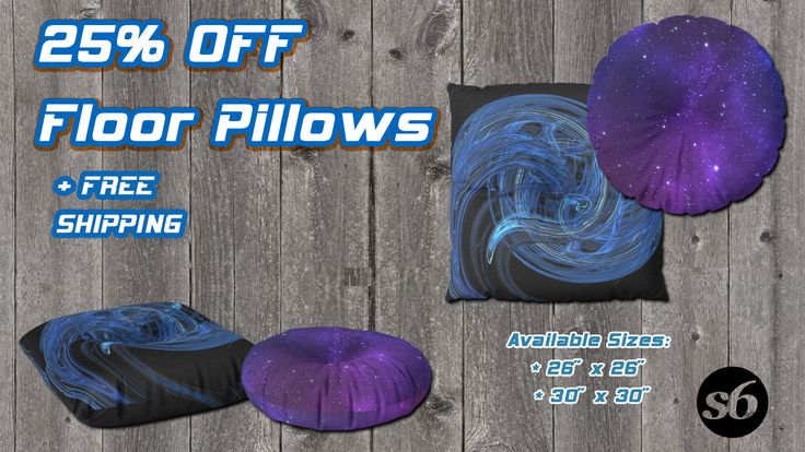 Get 25% Off + Free Worldwide Shipping on All Pillows Today! Space Sci-Fi style Floor Pillows by Scar Design. #space #floorpillows #universe #scifi #SciFi #scifigifts #homedecor #homegifts #coolfloorpillow #modernfloorpillow #spacefloorpillow #buyfloorpillows #spacegifts #stars #galaxy #fractal #giftsforhim #giftsforher #kidsroom #kidsgifts #spacekids #society6 #scardesign #discount #sales #save #freeshipping