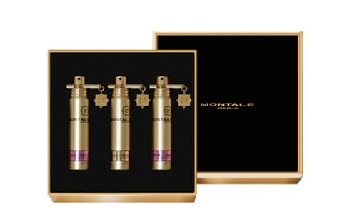 If you want to try some of their perfumes, including the novelties from Esxence, Montale Parfums has special perfume set with three fragrances available in 20 ml travel bottles. The suggested price is 70EUR for 3 x 20 ml. The choice of their fragrances for the perfume set is up to you.