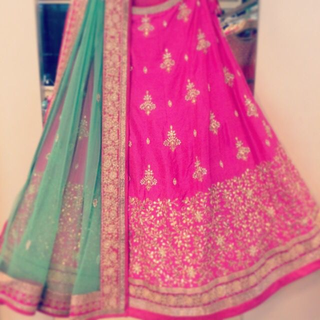 Strawberry pink gota Lehenga from Chamee n palak