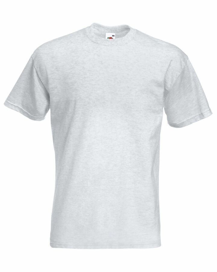 men/'s plain tops Fruit Of The Loom Men/'s Sofspun T-shirt S M L XL 2XL 3XL