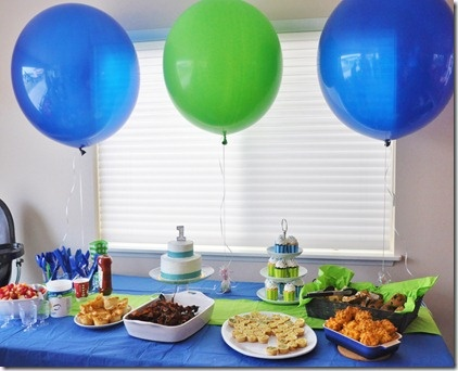14 best First Birthday!!! images on Pinterest Birthday celebration - blue and green birthday party