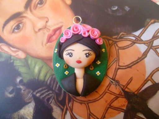 Cameo with polymer clay Frida Kahlo  Follow me on my facebook page https://m.facebook.com/LadycupcakeCreazioni