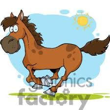 Image result for horse mowing lawn animated