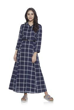 9ba981d0726 LOV by Westside Navy Anja Dress with Belt | belt and dori kurtis | Fashion clothes  online, Clothes for women, Fashion