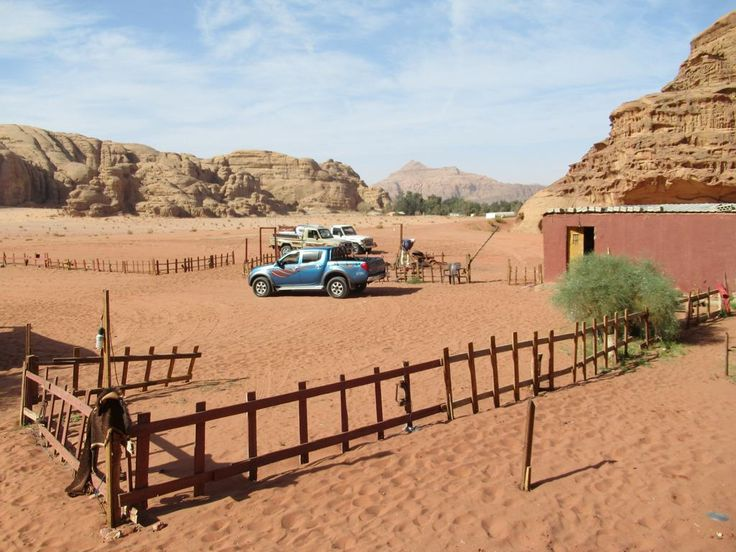Visitors to Wadi Rum in southern Jordan can experience the desert environment at Bedouin camps like this.