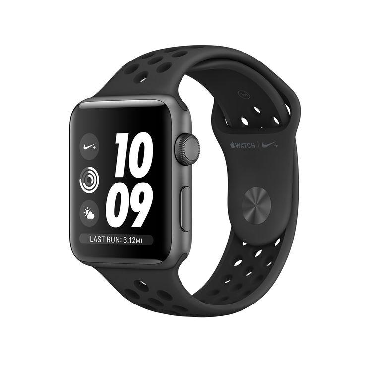 Shop AppleWatchNike+, urkasse i spacegrey aluminium med NikeSportsrem i mørkegrå/sort (38mm og 42mm). Med indbygget GPS. Køb nu og få gratis levering.
