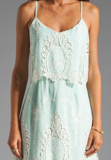 aqua with lace