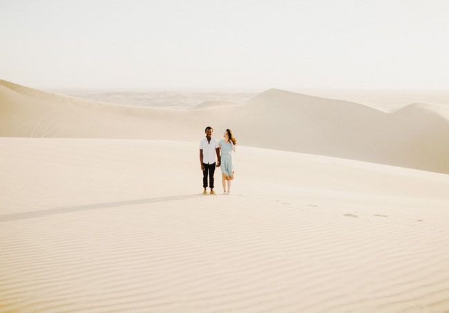 This is such a beautiful engagement photo...I can't believe it was photographed in California! From http://greenweddingshoes.com/desert-engagement-photos-alexandra-odwa/ Photo Credit: http://tylerbranchphoto.com/