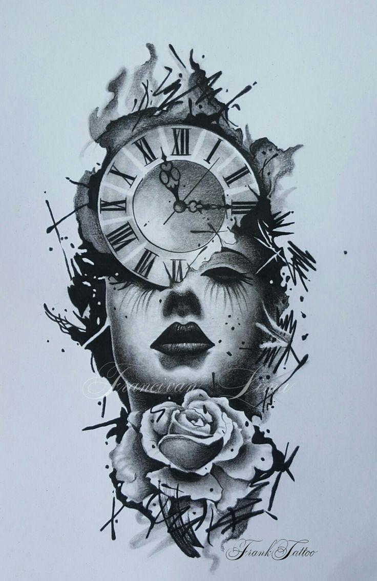 Tattoo Ideas Chicana Catrina Clock