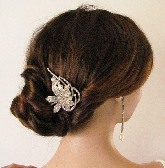 bridal hair comb wedding hair accessories bridal by Lolambridal, $75.00