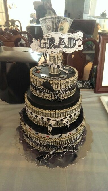 Money cake for graduation. | Feeling Crafty | Pinterest ...