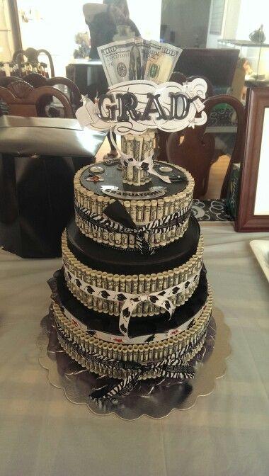 Money cake for graduation.