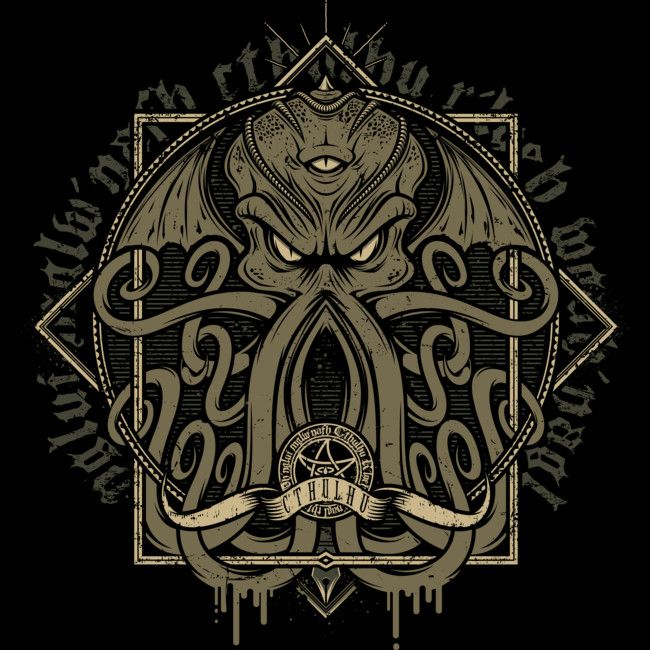 Cthulhumicon is a T Shirt designed by StudioM6 to illustrate your life and is available at Design By Humans