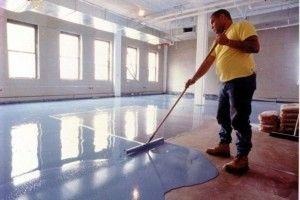 Painted concrete floor?