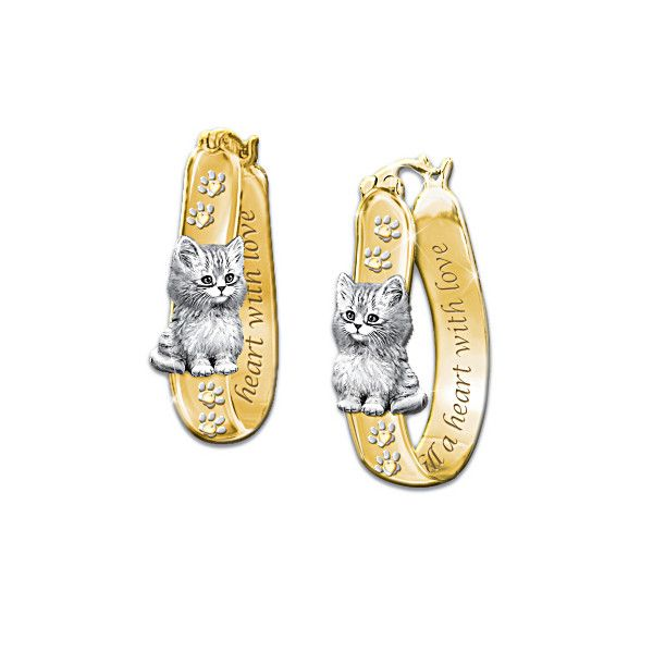 Cats Fill A Heart With Love Earrings