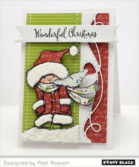 Featuring Penny Black stamps and dies and the cardmaking style of Peet Roeven-- click through for details