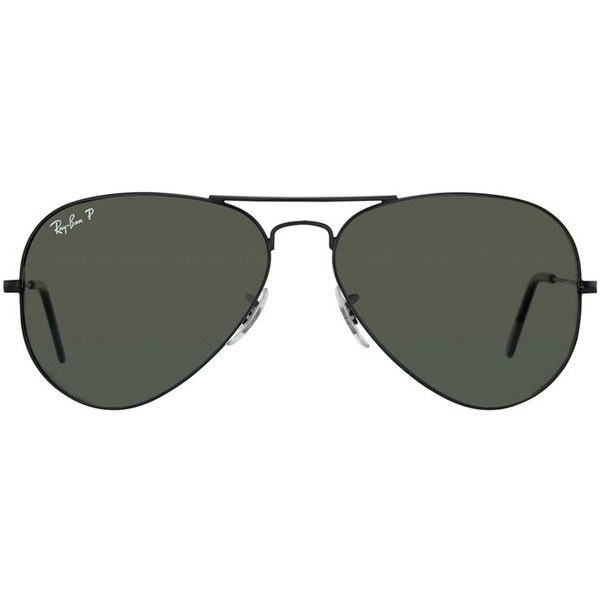 Ray Ban RB3025 Large Aviator 002/58 Sunglasses ($141) ❤ liked on Polyvore featuring accessories, eyewear, sunglasses, glasses, lentes, óculos, black, ray ban glasses, ray ban sunglasses and metal sunglasses