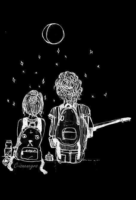 Estar com quem a gente gosta, vendo as estrelas e tocando vilão, certamente é uma boa noite!