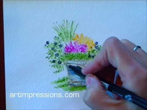Art Impressions Watering Can Tutorial! - YouTube