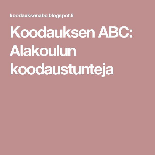 Koodauksen ABC: Alakoulun koodaustunteja