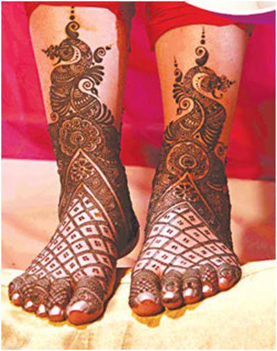 mehendi design for the feet