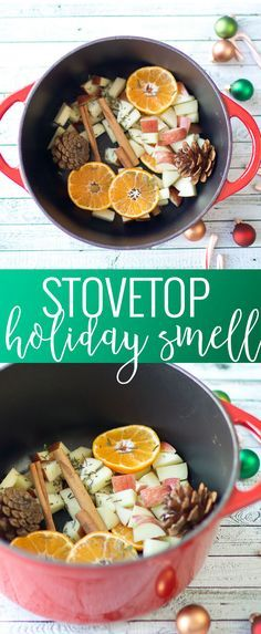 Stovetop Holiday Scent | holiday scents and smells | homemade holiday scent | homemade holiday potpourri | holiday potpourri | stovetop potpourri || Oh So Delicioso #stovetopscent #holidayscents #holidaypotpourri #potpourri