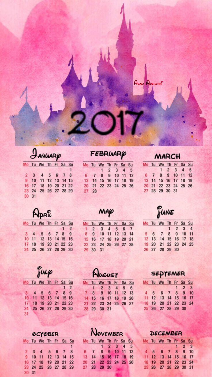 #My design   Disney calendar