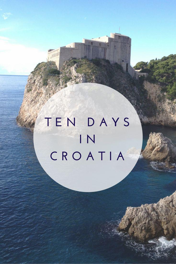 ten days croatia itinerary, @therestlessworker via @topupyourtrip