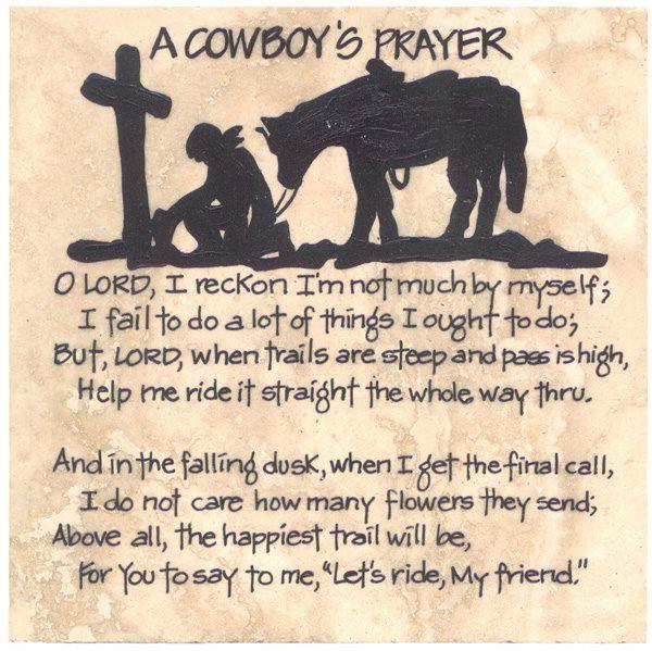 A Cowboy's Prayer                                                                                                                                                                                 More