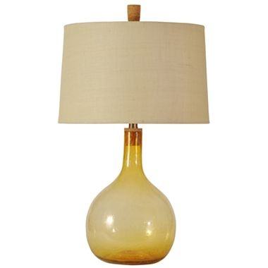Linden Street Amber Seeded Glass Table Lamp Jcpenney