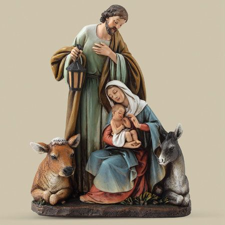 Silent Night Holy Family Nativity Figurine by Roman