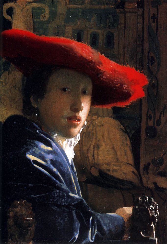 Johannes Vermeer (1632-1675) Girl with a Red Hat Oil on canvas c1665-c1667 National Gallery of Art (Washington, District of Columbia, United States)