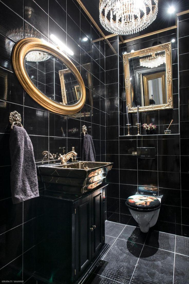 Black bathroom. #wc #kylpyhuone #bathroom