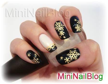 Snöflingor i guld