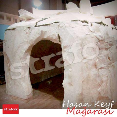3D Strafor uygulaması örneklerimizden Hasan Keyf Mağarası çalışmamız.  #Strafora #3D #Fuar #Stand #Tasarım #HasanKeyf #Mağara