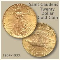 Saint Gaudens 20 Dollar Gold Coin