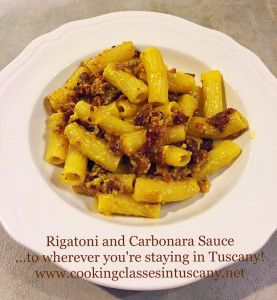 Cookery Courses in Tuscany, Pasta Sauces at your Holiday Home: Carbonara!