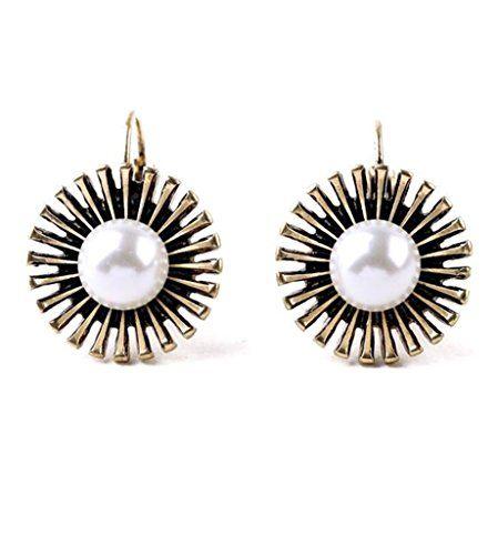 White Statement #Earrings.trendy Earrings for #women from #Fever21