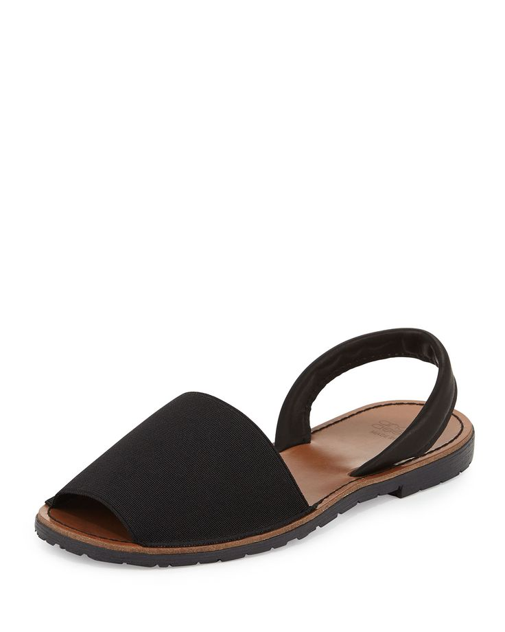 Andre Assous Menorca Elastic Slingback Sandal, Black, Women's, Size: 8