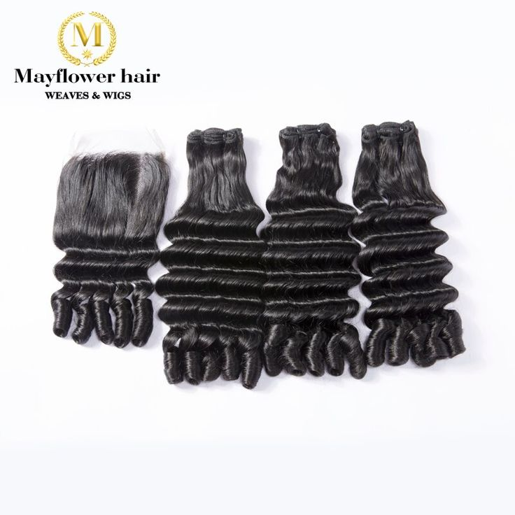 Mayflower Funmi Hair Rose curl 2/3/4 bundles with …