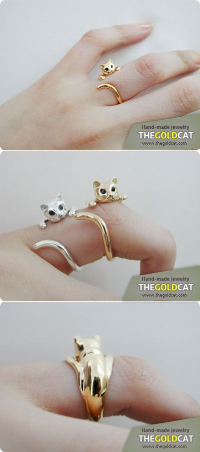 cat ring, the gold cat