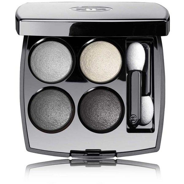 CHANEL Multi-Effect Quadra Eyeshadow - Colour TissÉ Smoky (2,595 DOP) ❤ liked on Polyvore featuring beauty products, makeup, eye makeup, eyeshadow, chanel eyeshadow, creamy eyeshadow, palette eyeshadow, chanel eye shadow and chanel eye makeup