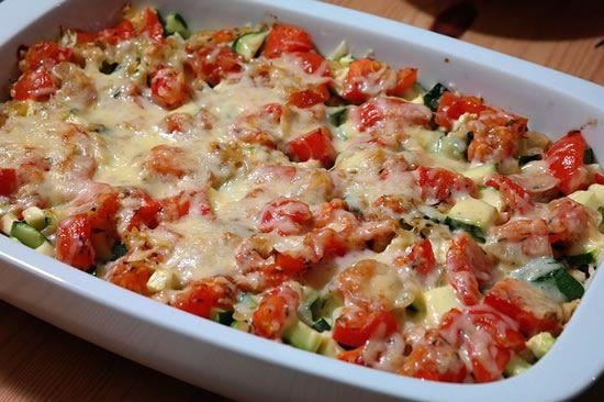 Receta fácil de cazuela de queso y verduras italiana, receta italiana casera