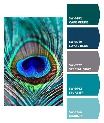 Peacock Paint Colors. Paint colors from Chip It! by Sherwin-Williams