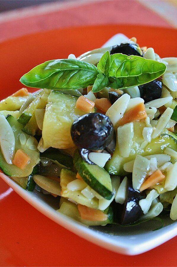 Orzo And Zucchini Salad Recipe Zucchini Salad Salad Green Salad Recipes