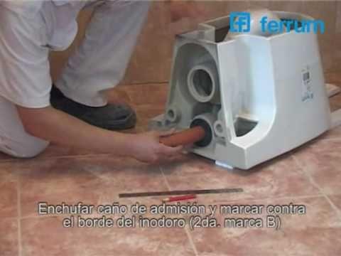 Instalaci n de inodoro de colgar l nea marina ferrum for Repuestos para mochila de inodoro ferrum