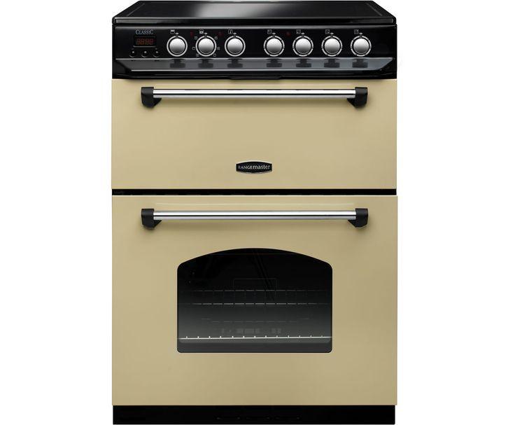 Rangemaster Classic 60 CLAS60ECCR/C Electric Cooker with Ceramic Hob - Cream / Chrome