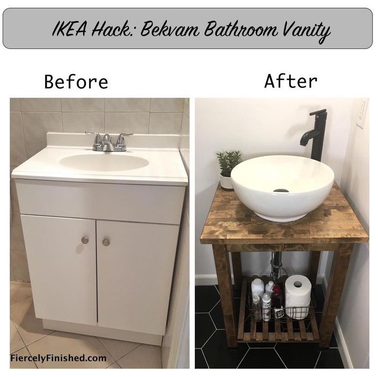 IKEA Bekvam Vanity Tutorial
