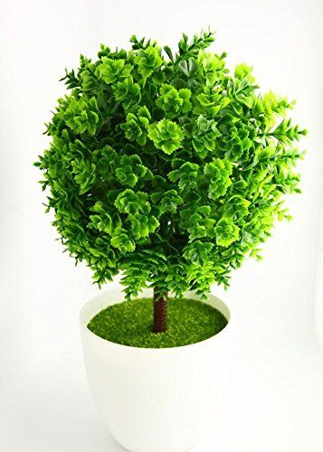 Green 02 Artificial Plants Bonsai Potted Flower Plant Lucky Ball Tree Home Decor 25 *15cm -- Click image for more details.