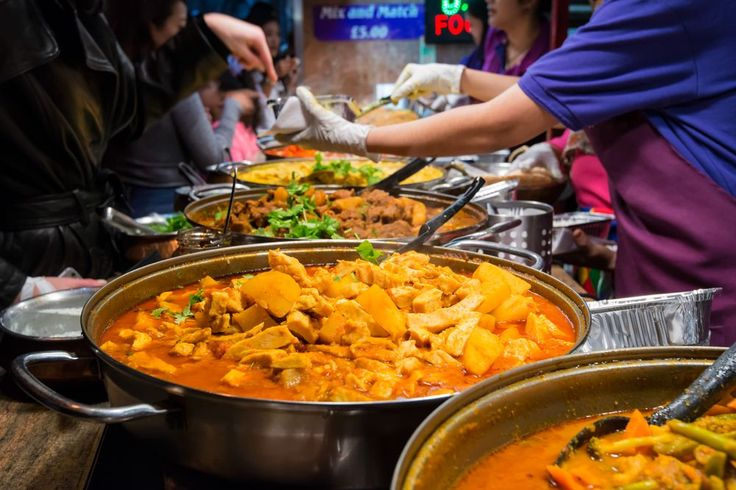 Close-up of curry in a London market